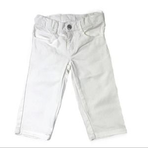 Gymboree White Denim Capris Size 4